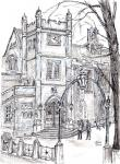 Temple Hall,Elizabethan, at Middle Temple [ pencil and ink on paper. A4 - original in private collection - Prints available from Saatchi On Line gallery – see HOME page ]
