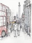 Lower Regent Street [ pencil & ink with wash - A4 size, original available ]