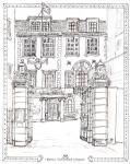 Royal Overseas League [ pen and ink drawing - A4 size, original in private collection ]