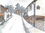Old St Albans Street [ pen and ink watercoloir - A3 size, original available ]