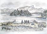Derwent Water View - G [ pen and ink with wash - A4 size, original available ]