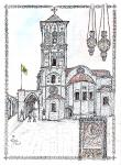 St Lazaros Church, Larnaca [ pen and ink with wash - A4 size, original available ]