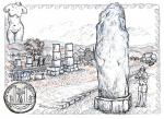 Temple of Aphrodite,  Impression [ pencil, pen and ink with wash - A4 size, original available ]