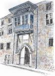 House of the Dracoman, Nicosia [ pencil, pen and ink with wash - A4 size, original available ]