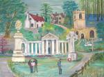 Ayot St. Lawrence, montage of images [ oil on canvas ]