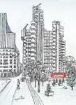 Lloyds of London-front view [ Ink and wash on paper - Original available  A4 size ]