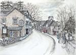 Grasmere Village 2 [ One of the most picturesque villages. The main street. Ink, pencil and wash. ]