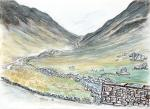 Honister Pass -4 [ Another view. Ink, pencil and watercolour. ]